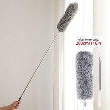 Ferramenta de limpeza arbitrária de aço inoxidável da abertura de dobra do agregado familiar da escova de microfibra ultra-longa 0.8-2.8m do espanador de poeira retrátil