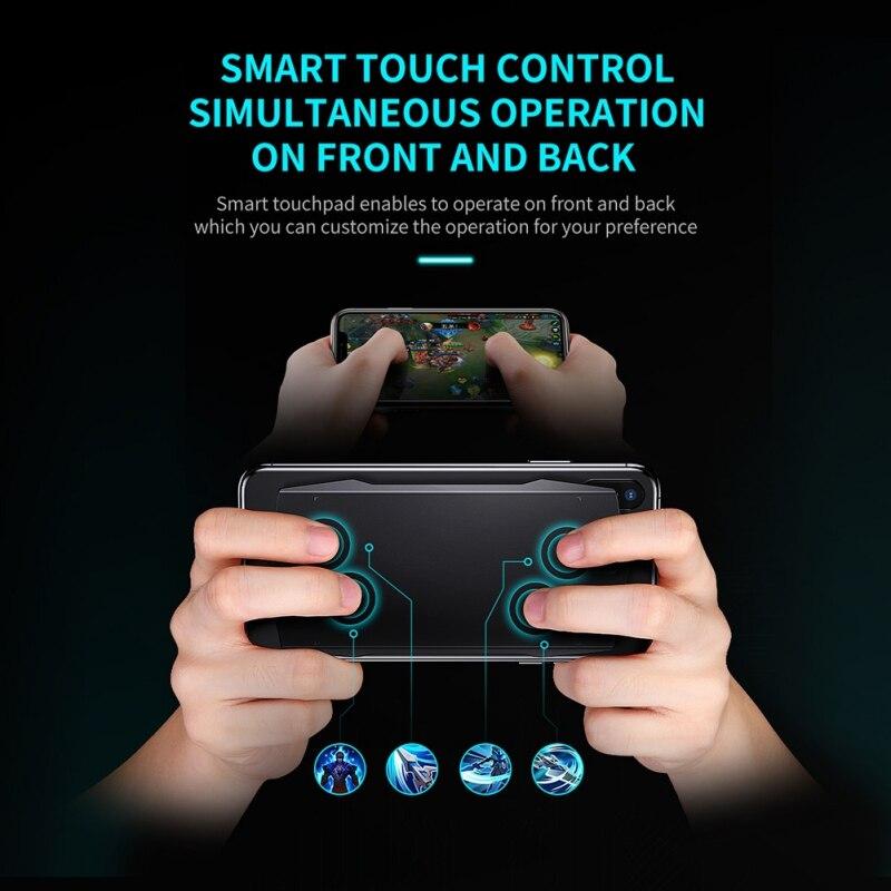 MUJA inteligente Gamepad controlador táctil pugb gatillo Bluetooth Joystick PUBG Control de juego apoyo indie juego nuevo Saturno 70W Era spb-6 LED moderno con Grupo remoto controlado regulable lámpara de cambio de Color sala de estar