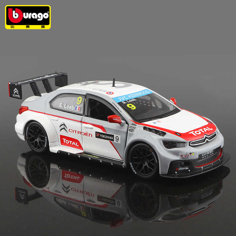 Bburago 1:32 C-Elysee RV racing model DTM racing car Convertible alloy car model simulation car decoration collection gift toy