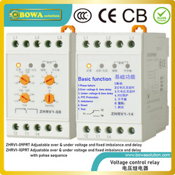 ZHRV1-09PRT Voltage protector with reset and test button and PTC protection is against over-voltage, under-voltage & imbalance