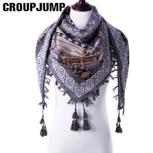 Stylish Scarf Handkerchief Bandana Stoles Floral-Print Triangle Women Brand for Half-Size