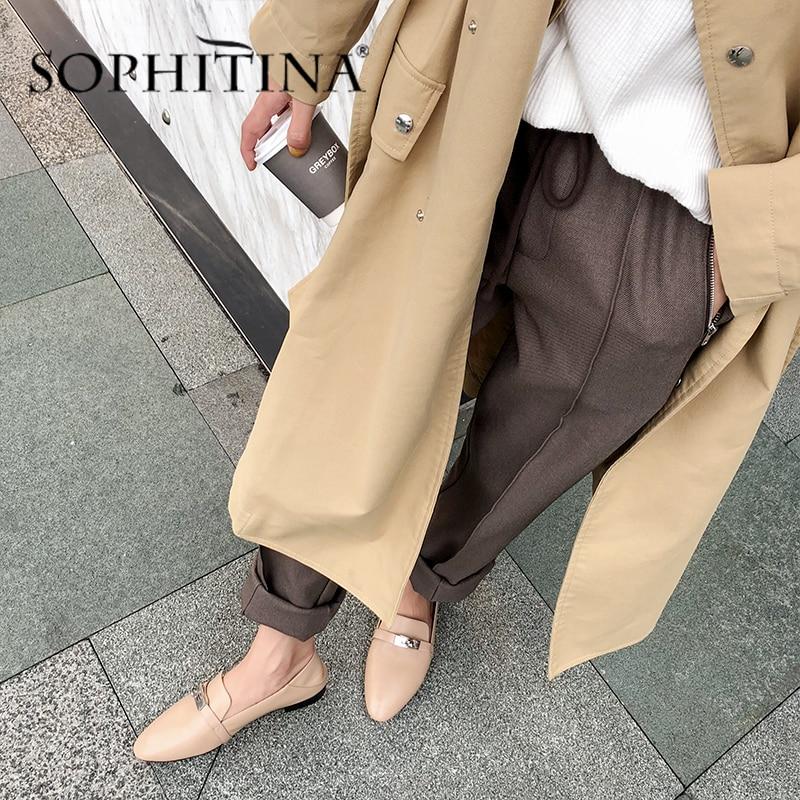 Купить sophitina/модная женская офисная обувь на плоской подошве с