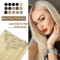 Прямые человеческие волосы для наращивания на заколке ZURIA, 16, 20, 24 дюйма, 100% человеческие волосы без повреждений
