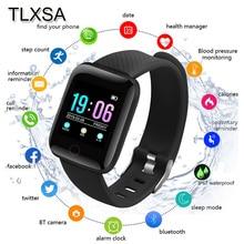 TLXSA 블루투스 스포츠 보수계 어린이 스마트 시계 수면 모니터 방수 Smartwatch 키즈 보이 선물 시계 D13 Fit Android