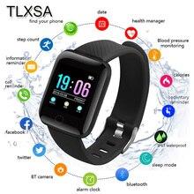 Tlxsa Bluetooth Sport Stappenteller Kinderen Smart Horloge Sleep Monitor Waterdichte Smartwatch Kids Jongen Gift Horloges D13 Fit Android