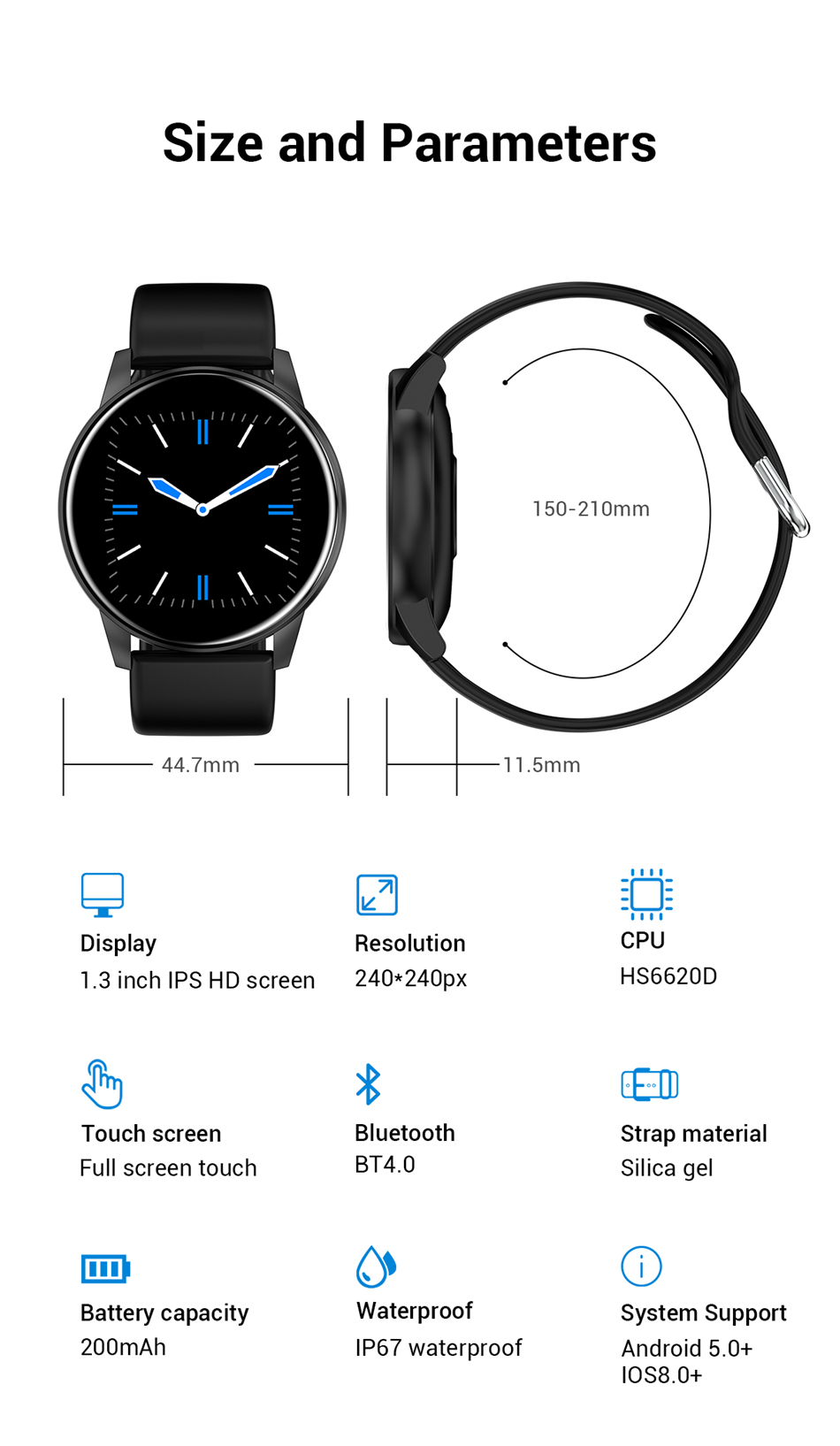 Smart Watch Sports Android IOS