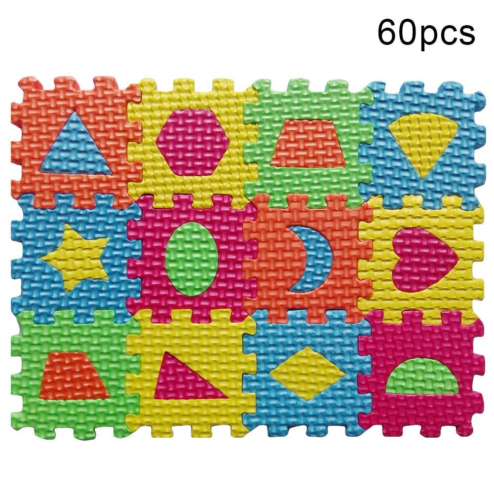 60Pcs/Set Geometry Figure Carpet Baby Kids Education Toy Preschool Learning Mat Toy Carpet Early Teaching Floor Mats