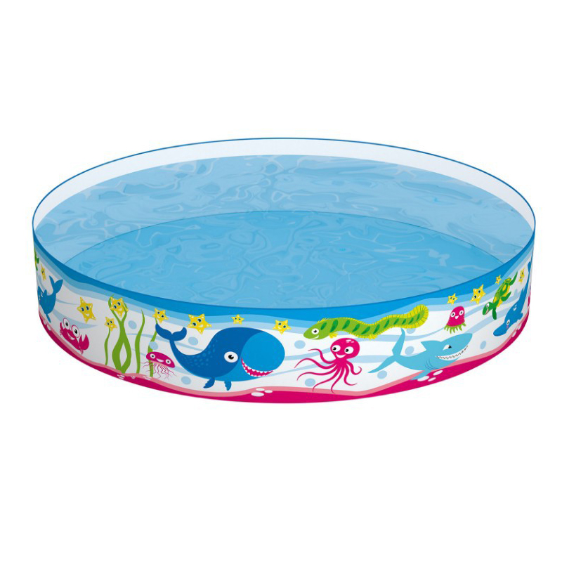 Cartoon Pattern PVC Plastic Family Swimming Pool Round Hard Glue Pool Children's Play Pool Ocean Ball Pool Fish Pond 152*25cm