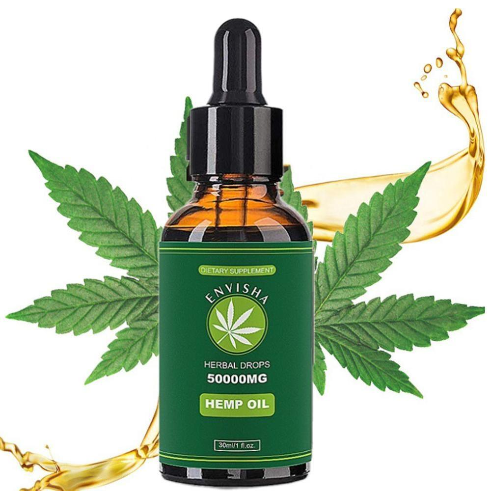 50000mg Hemp Oil For Pain Relief Anxiety Sleep Anti Inflammatory Extract Drops Seed Oil 100% Pure Organic Therapeutic Grade