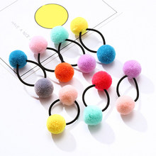 Children's Hair Accessories Cute Hair Double Ball Rope Little Girl Rubber Band Not Hurt the Hair Hair Rope(China)