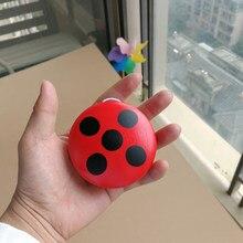 Joaninha yo-yo madeira crianças presentes clássico brinquedo vermelho