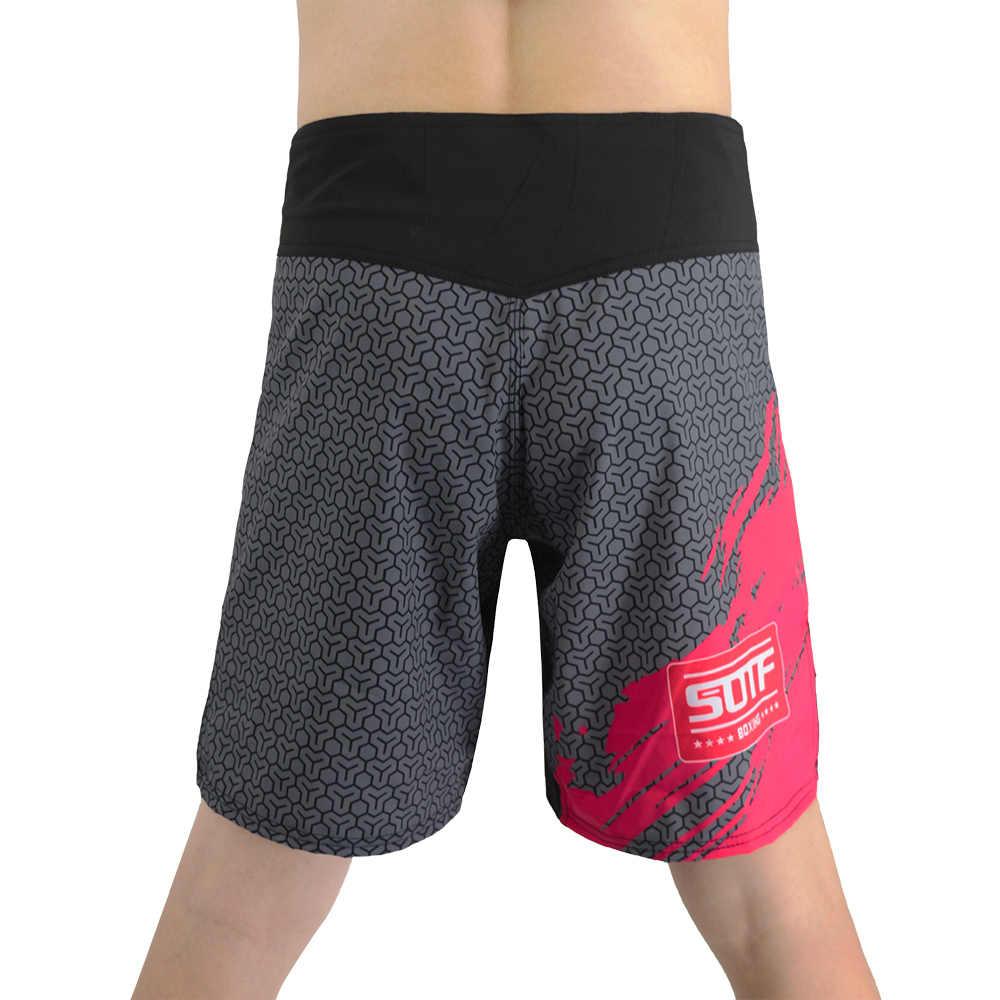 Details about  /MMA Tiger Boxing Shorts Muay Thai Sanda Training Fitness Printing Shorts Pants