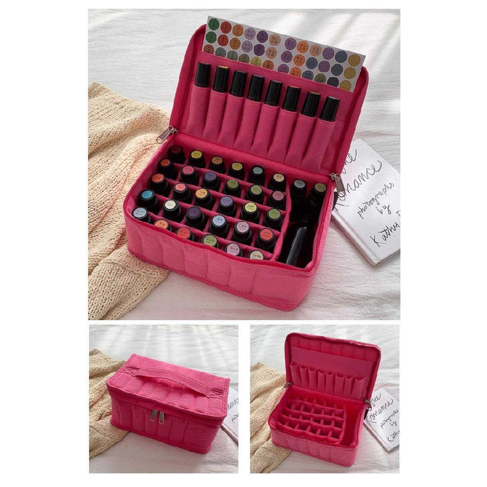 2020 New Fashion Box Essential Oil Bottle Carrying Case Large-capacity Shockproof Storage Bag For Nail Polish