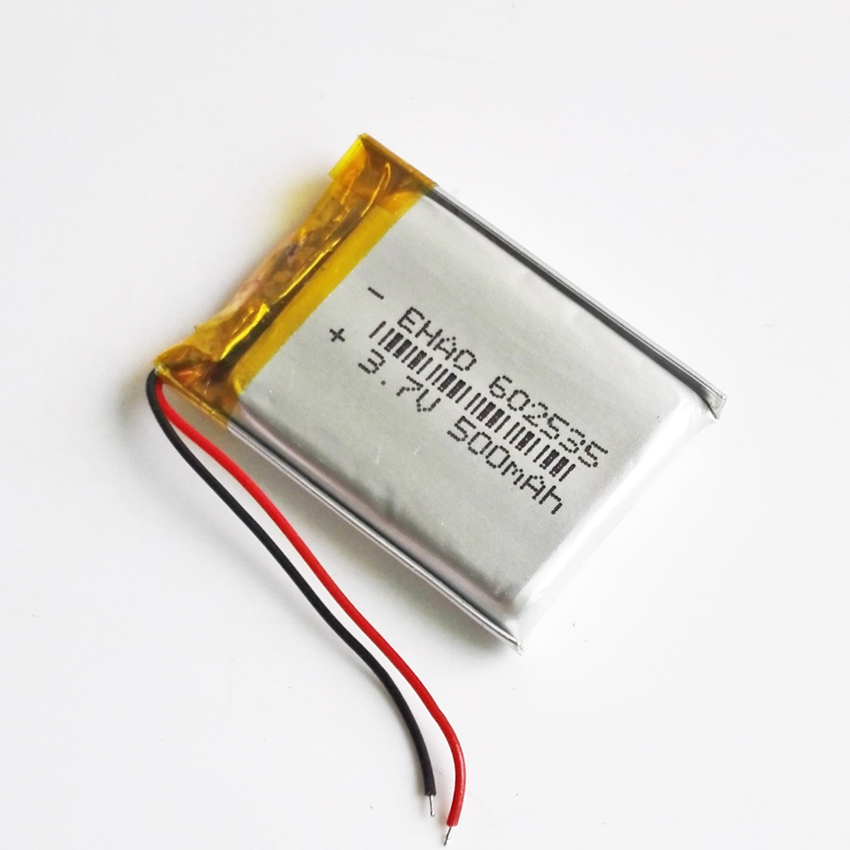 5 шт. 3,7 в 500 мАч 602535 литиево-полимерный lipo аккумуляторная батарея для Mp3 gps bluetooth ebooks камера DVD Смарт часы 6*25*35 мм