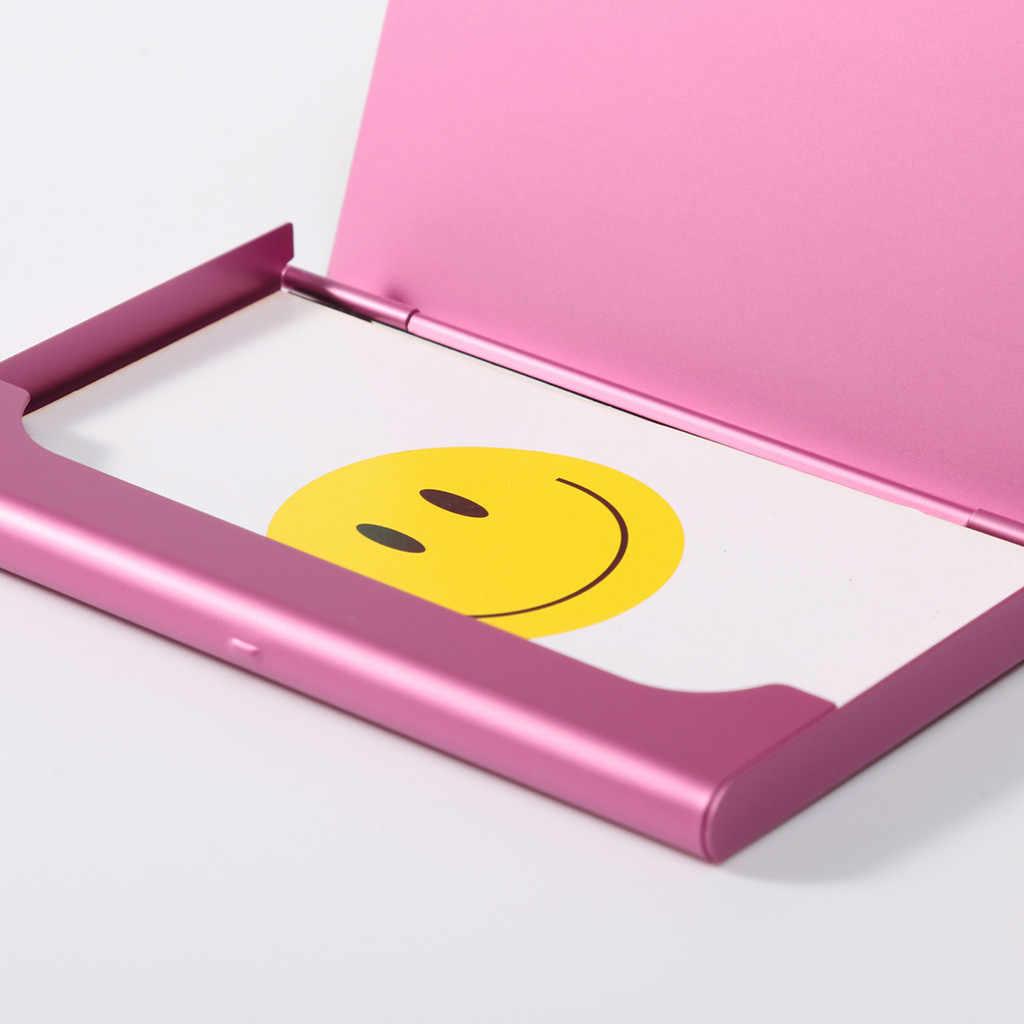 Caja creativa de la tarjeta de visita del sostenedor creativo ocasional de la caja de la aleación de aluminio del Metal de la carpeta de la caja de la tarjeta de crédito de los hombres