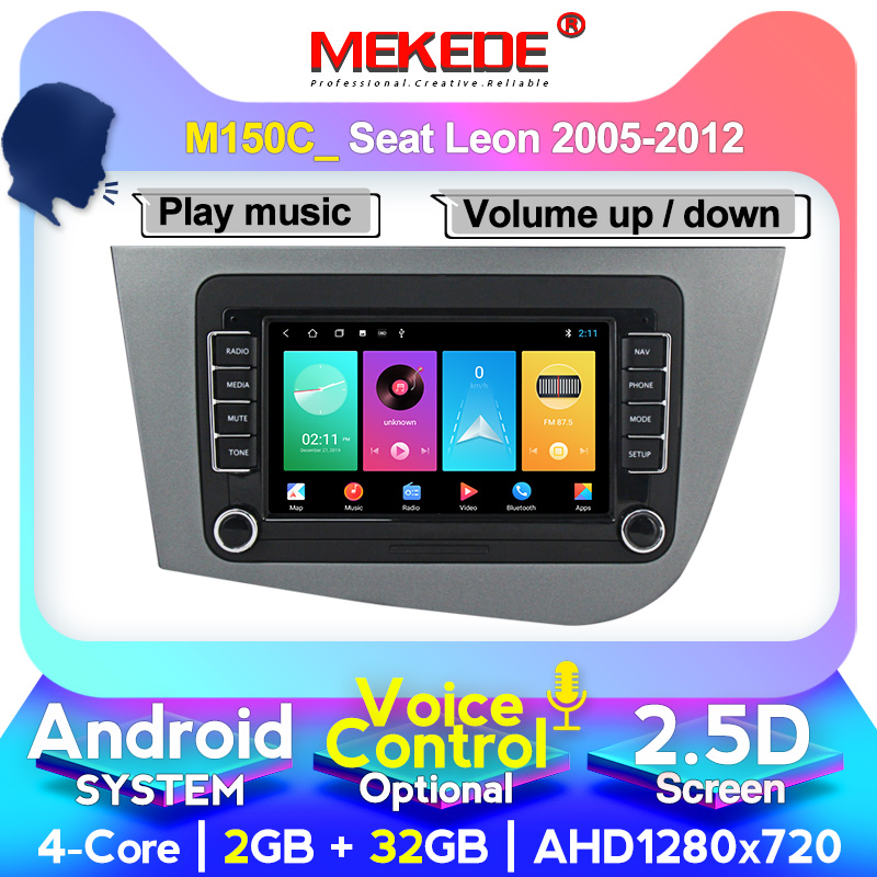 4G RAM +64G ROM HD 1024x600 Android <font><b>Car</b></font> DVD Radio Multimedia Player For for <font><b>SEAT</b></font> <font><b>Leon</b></font> (LHD) Left GPS Navigation <font><b>car</b></font> audio image