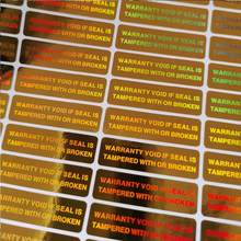 Pegatinas holográficas de seguridad, sello de seguridad a prueba de manipulaciones, 35mm x 10mm, 2000psc