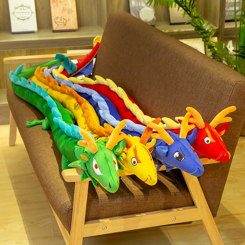 LAARNT 20cm Dragon en Peluche Noir,Poup/ée en Dragon Mignon,Oreiller en Dragon,Cadeaux pour Amis Enfants