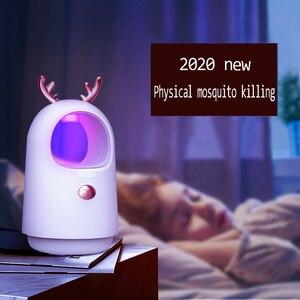 Image 1 - 2020 Nieuwe Usb Muggen Killer Lamp Indoor Elektronische Muggen Killer Anti Insect Killer Bug Zapper Trap Uv Licht Lamp