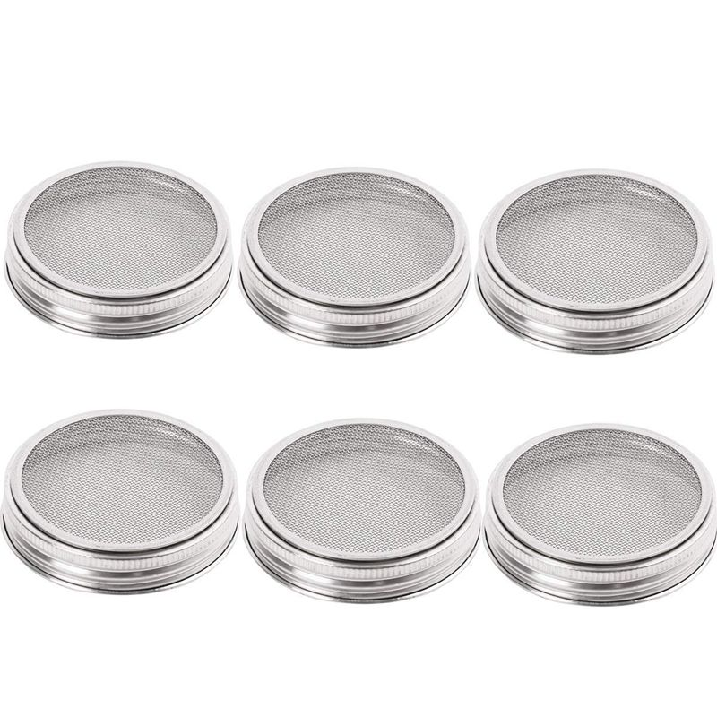 10 Pack Stainless Steel Sprouting Lids Curved Mesh Jar Sprouting Lid Kit For Wide Mouth Mason Jars Canning Jars For Making Organ