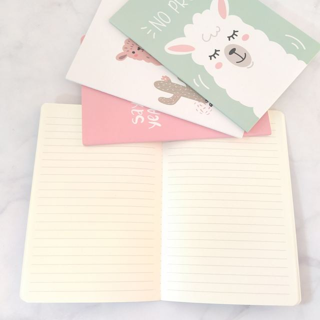 A5 Notebook Agenda 2020 Kawaii Bullet Journal Soft Cover Diary Planner Alpaca Cute Office Stationery Animal Notepad Ruled Paper 3