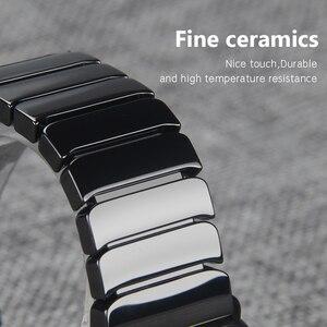 Image 2 - Ceramic Watchband for Apple Watch band 44mm 42mm Smart Watch Link Strap Bracelet Ceramic Watchband iWatch series 5 4 3 40mm 38mm