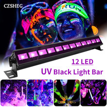6LED 9LED 12LED 18LED Disco UV Schwarz Licht DJ 36W Par Licht UV Party Weihnachten Bar Licht Laser Bühne licht UV Wall Washer