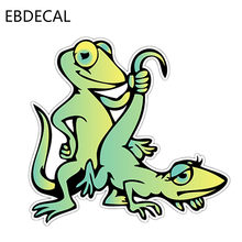 EBdecalGecko Lizard Sex Adult Funny For Auto Car/Bumper/Window/Wall Decal Sticker Decals DIY Decor CT6345(China)