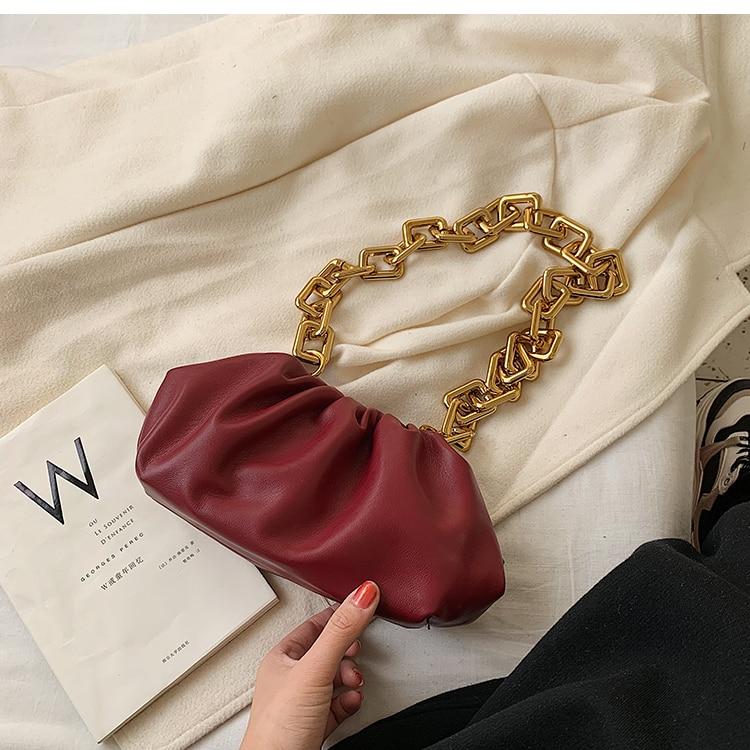 bolsa de ombro da corrente do vintage saco do mensageiro