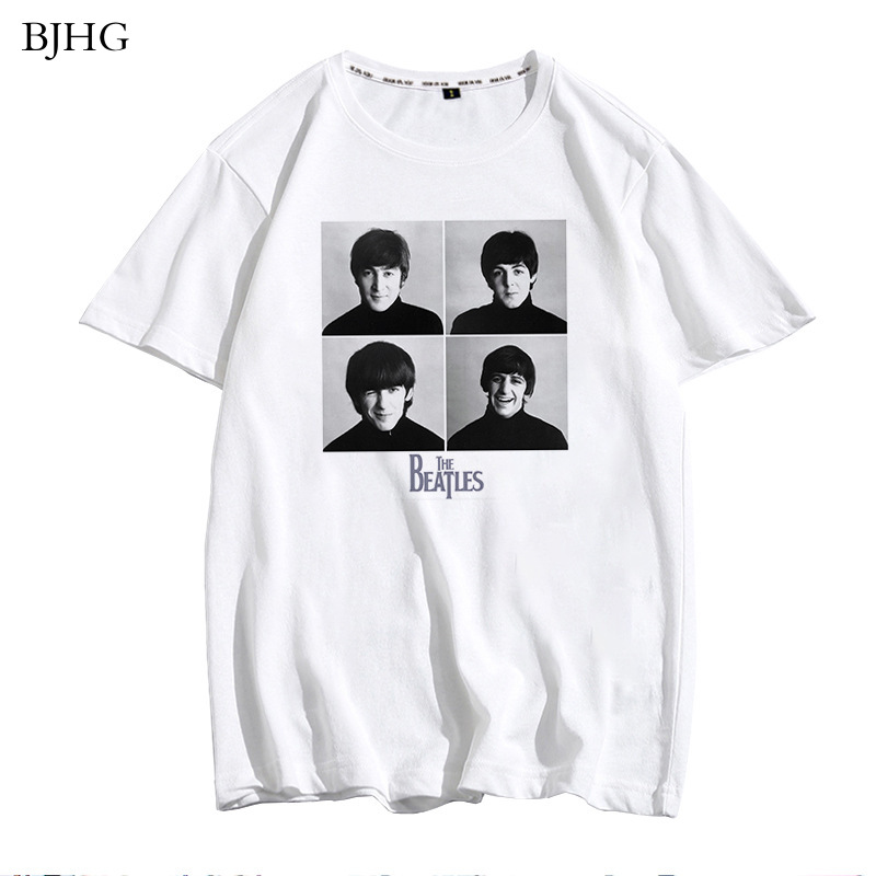 BJHG The Beatles Tshirt Men Fashion Tops 2020 O-Neck Short Sleeve White T-shirt High Quality Man Novelty Tops Tee Shirt Clothes