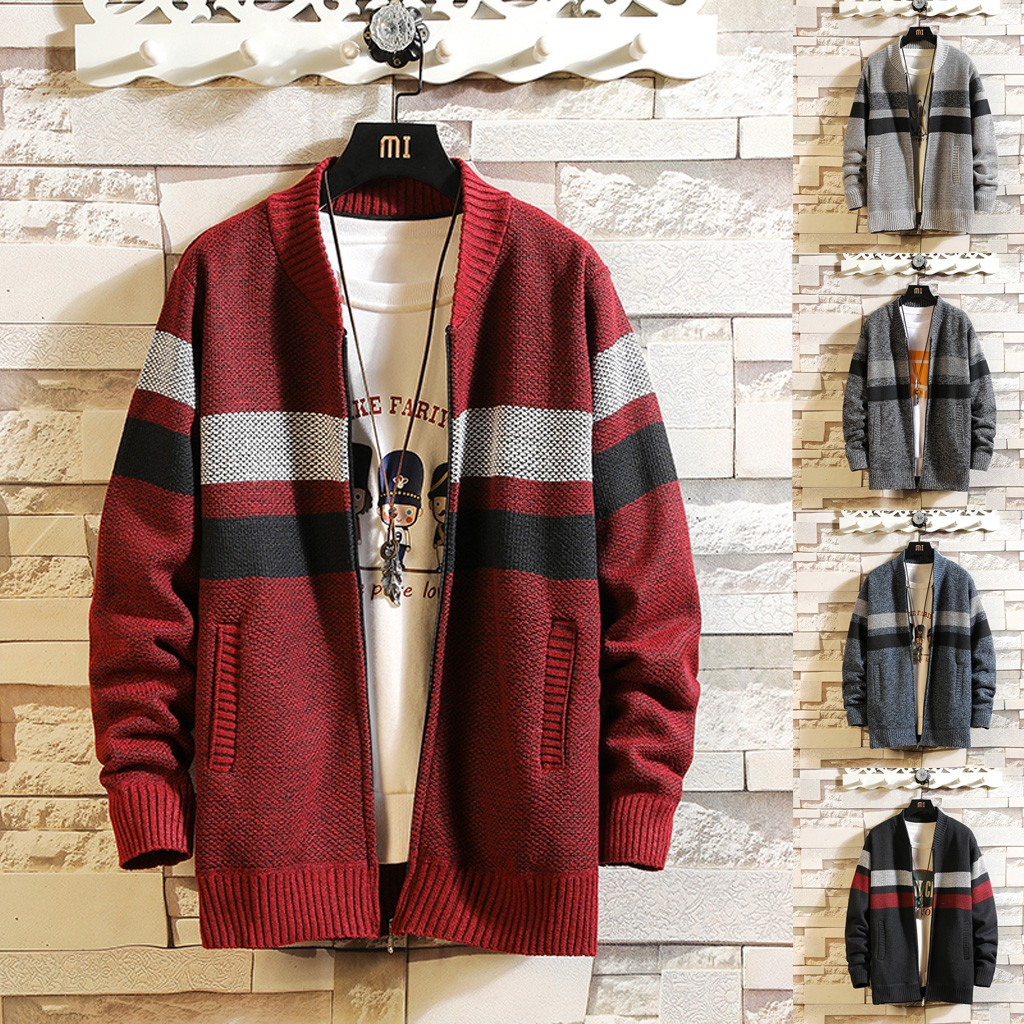 Low Price Loss Sale 2019 Men's Autumn Winter Casual Patchwork Turn-down Collar Jacket Coat High Quality Drop Shipping New