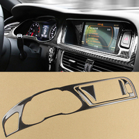 4x Real Carbon Fiber Car Dashboard Instrument Navigation Panel Stickers Car Trim For Audi A4 B8 2009 2016 Car Styling Accessory