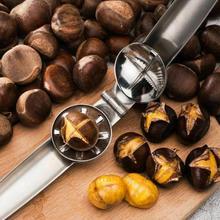Нержавеющая сталь 2-в-1 быстрая нож с зажимом для каштанов психического Гайка открывалка Щелкунчик Шеллер щипцы для грецких орехов Кухня инструменты