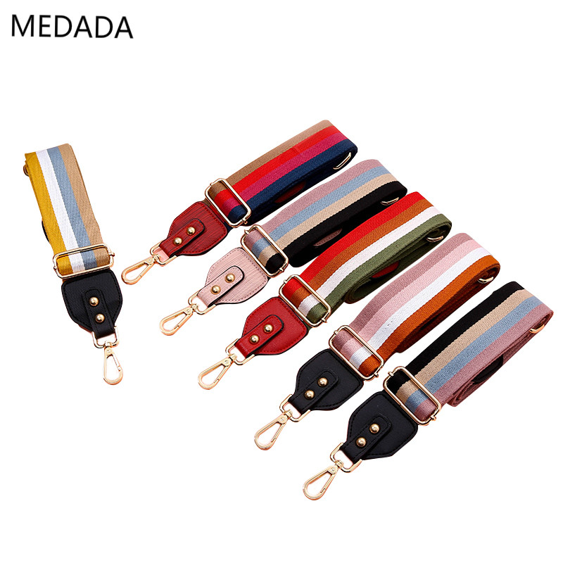 New  Fashion Wide Straps For Bags  Crossbody Strap Women's Adjustable Length Bag Belt  Medada