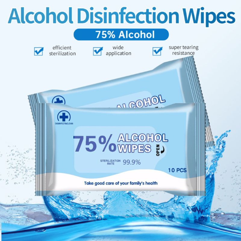 75% Alcohol Cotton Wipes Disinfection Wipes Achieve 99.9% Bacteriostatic Rate