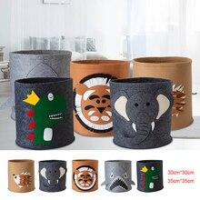 Laundry Basket, Felt, Round Toy Storage Bucket, Dirty Clothes Storage Basket, Bathroom Laundry Baskets
