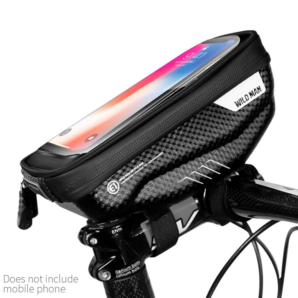 Mountain Bike Front Tube Pouch Bag Frame Pannier For 6.5inch Screen Phone Holder