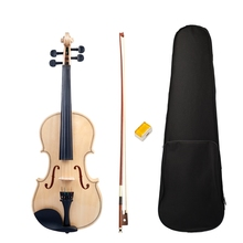 Violin Full-Size Adult Set Bow-Box Acoustic Smooth Polished-Surface Student New