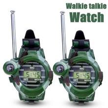2pcs Children Walkie Talkie 150m Intercom distance Walkie Talkies Watches Walkie Talkie 7 in 1 Watch Radio Outdoor Interphone