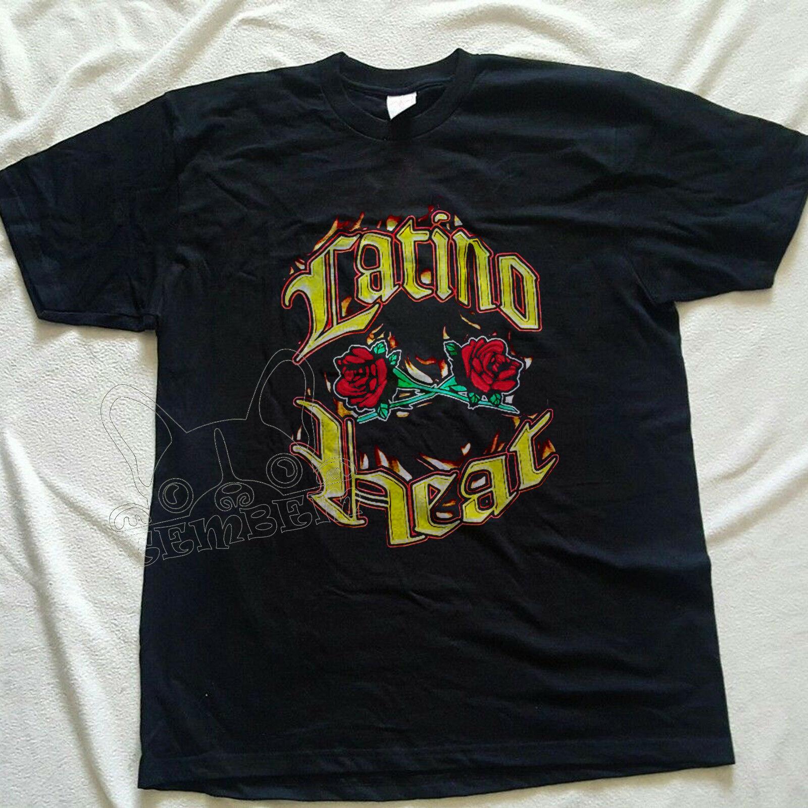 Vintageharajuku Streetwear Shirt Menlatino Heat Wwf Eddie Guerrero Reprint Shirt S Xxl(China)