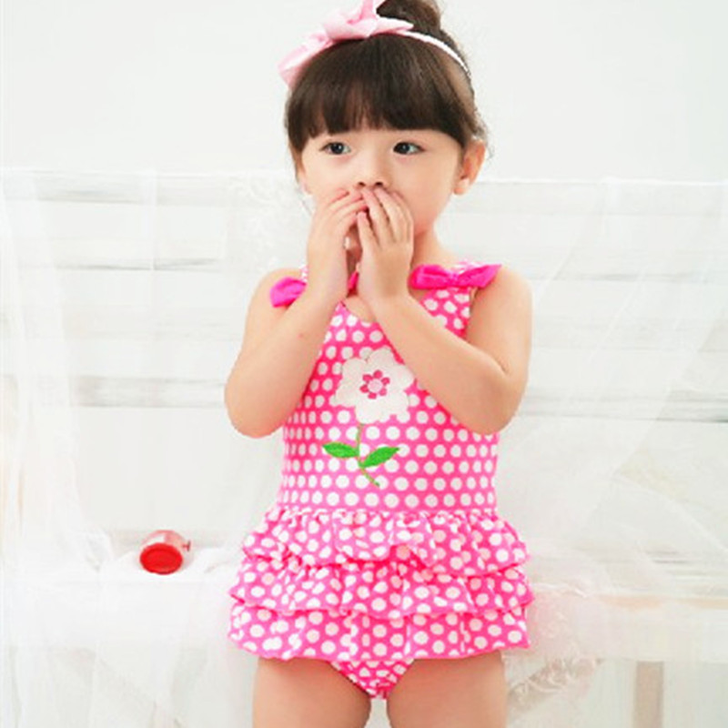Special Offer Closeout Processing KID'S Swimwear Baby Infants GIRL'S Princess Dress-Polka Dot One-piece Cute Swimwear
