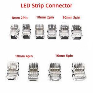 5 sztuk 8mm/10mm/12mm kolorowe LED złącze paska 2/3pin 4pin 5pin lekki pas dla wodoodporna IP65 taśmy do drutu skorzystaj z 3528/5050/5630