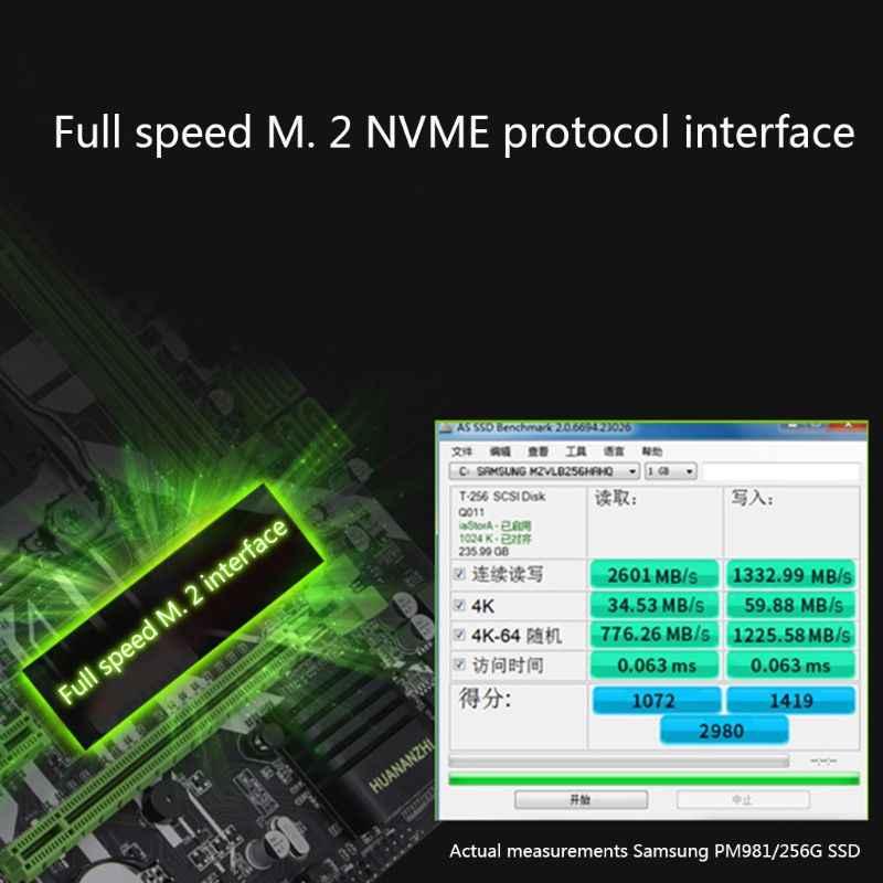 Ranura para placa base envío gratis huananthi X99 LGA2011-3 NVME m2 SSD compatible con memoria DDR4 de registro ECC y procesador Xeon E5 V3 V4