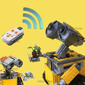 New Idea RC Motor Power Functions WALL E Robot Fit Technic Figures MOC Building Block Bricks Diy Toy Gift Kid Birthday Xmas