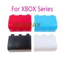 3pcs החלפת שיכון דלת כיסוי עבור Xbox סדרת X S בקר סוללה פגז מכסה בחזרה מקרה לבן סיטונאי