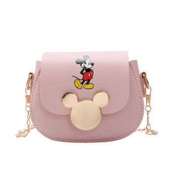 Disney Mickey Mouse Cartoon Pu Messenger Shoulder Bag 2020 New Bag Female Mini Girls Coin Purse Fashion Mickey Mouse Chain Bag car roof light a c volume knobs rear air outlet ring trim for land rover discovery 4 range rover sport freelander 2 accessories