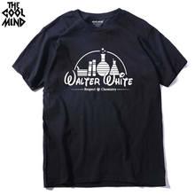 COOLMIND BR0122A 100% 코튼 캐주얼 속보 나쁜 남자 T 셔츠 캐주얼 반소매 티 셔츠 탑스 Heisenberg 남자 티셔츠