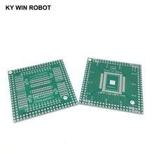 1pcs QFP/EQFP/TQFP/LQFP144/LQFP128 SMD vez DIP CPU ampla 0.5 milímetros adaptador IC soquete/Adaptador placa PCB/PCB