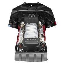 LBG 2019 New 3D Printing Toyota Engine Brand T-Shirt Men and Women Fashion Harajuku Short Sleeve Mens