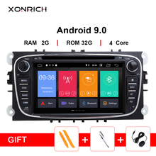 цена на IPS Car Multimedia 2Din Android 9 GPS Car DVD Player for FORD/Focus 2 3 S-MAX/Mondeo 4 C-MAX/Galaxy KugaCar Radio Navigation DVR